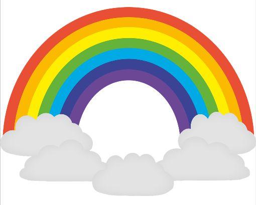 Kinder malen Regenbogen gegen Corona