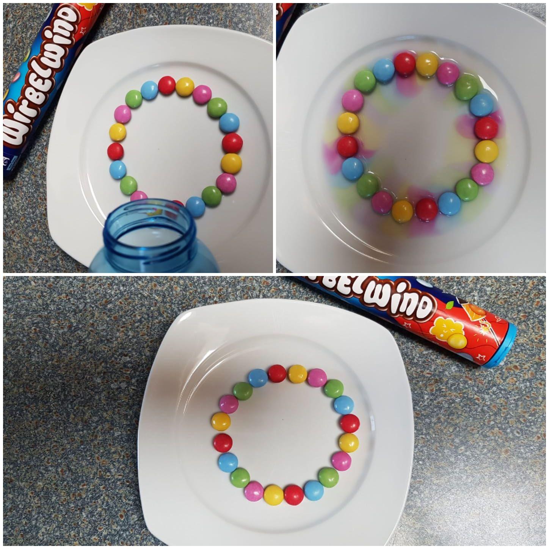 Smarties -Farbexperiment