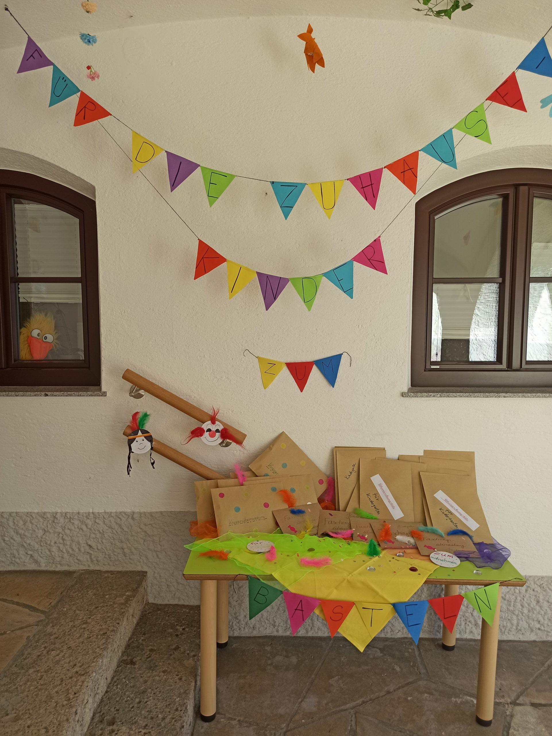 Überraschungstüten für die daheimgebliebenen Kinder HfK Haidholzen